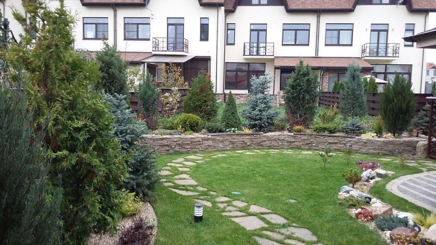 Ландшафт озеленение растения фото барбекю строительство каменных барбекю